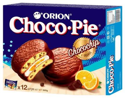 Кондитерское изделие Orion Чоко Пай чокочип апельсин с кусочками шоколада в глазури 360 г