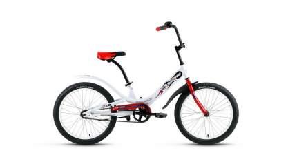 "Велосипед Forward Scorpions 20 1.0 2020 10.5"" white/red"