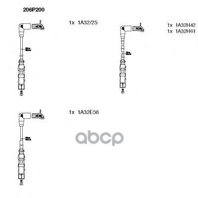 Комплект высоковольтных проводов BREMI 206P200