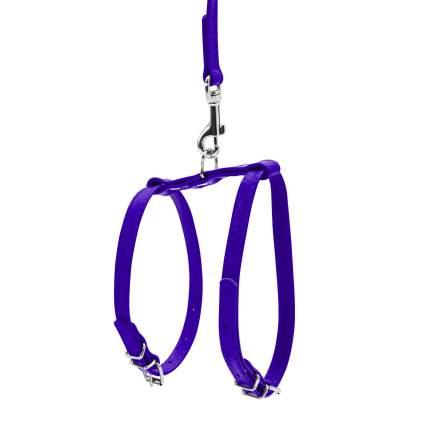 Шлейка для собак и кошек Collar WAUDOG Glamour фиолетовый, 12мм, грудь 35-43см шея 25-33см