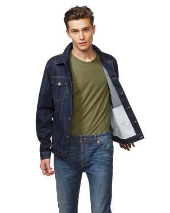 Джинсовая куртка мужская United Colors of Benetton 2AW753BT8_905 синяя XXL