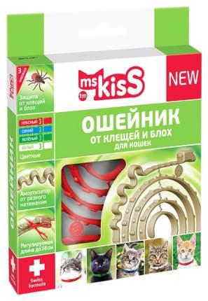 Ошейник для кошек против паразитов Ms. Kiss Mild красный, 38 см