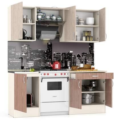Кухня Мебельный Двор Мери 1,92 190 см. дуб/ясень шимо светлый/тёмный