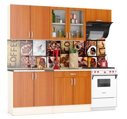 Кухня Мебельный Двор Клер 2,2 220 см, дуб/вишня