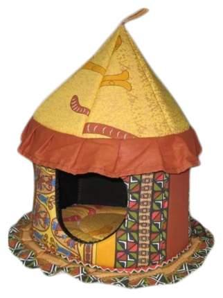 Домик для кошек Usond Цирк (бязь), коричневый, 35x35x43см