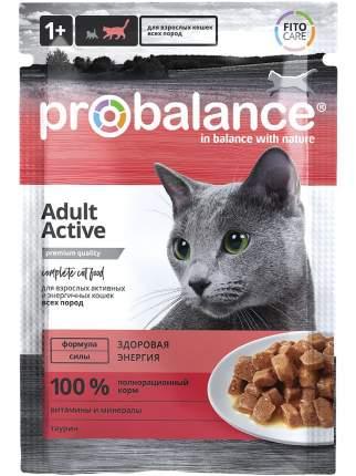 Влажный корм для активных кошек Probalance Active, 85 г х 25 шт.