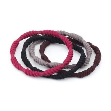 Резинки для волос Dewal Beauty цветные, крученые , midi (4 шт.) DBR86