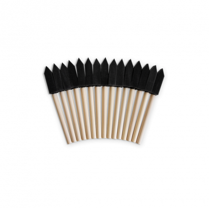 Губка- шпатель на деревянной ручке, комплект 15 шт.