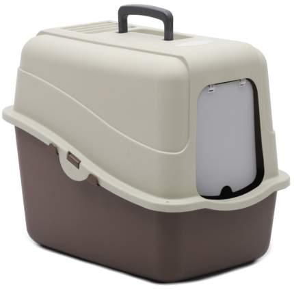 Туалет для кошек Pet Choice, прямоугольный, белый, коричневый, 48х38х43 см