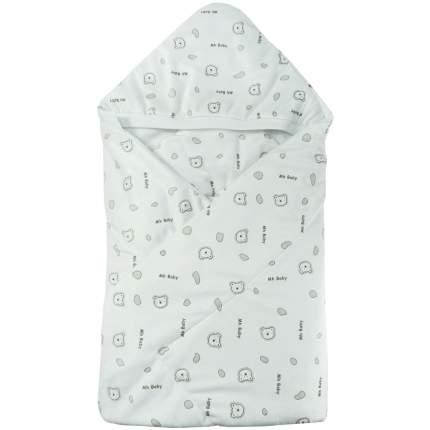 Конверт-одеяло Папитто вельбоа набивной Белый 2158