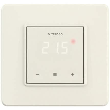 Сенсорный цифровой терморегулятор для теплого пола terneo s слоновая кость