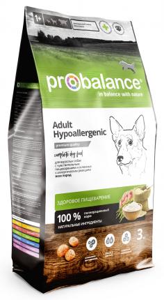 Сухой корм для собак Probalance Hypoallergenic, чувствительное пищеварение, 3 кг