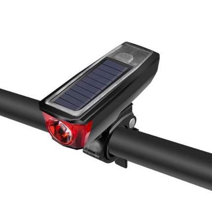 Велосипедная фара HJ-052 с солнечной батареей (2000 мАч) диодная (Черный)
