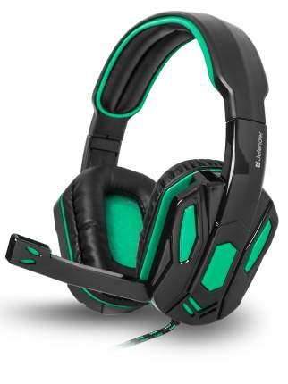Игровая гарнитура Defender Warhead G-275 Green/Black