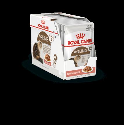 Влажный корм для кошек ROYAL CANIN Ageing+12, мясо, 12шт, 85г