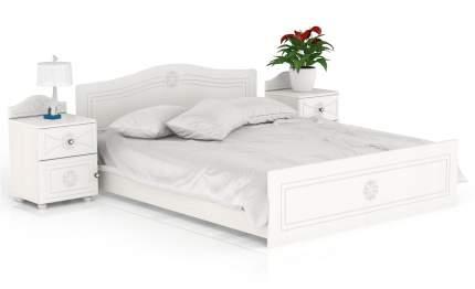 Кровать с тумбами Мебельный Двор Онега КР-1600ОРТ+2ТП-1 белый, 267х204х84 см.