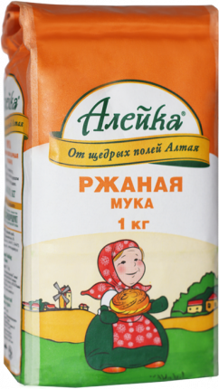Мука Алейка ржаная хлебопекарная Обдирная 1 кг