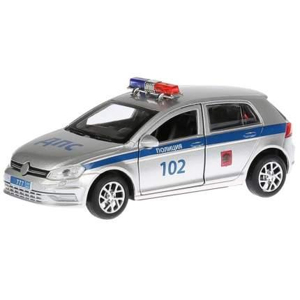 Технопарк Инерционная металлическая машина - Полиция, длина 12 см