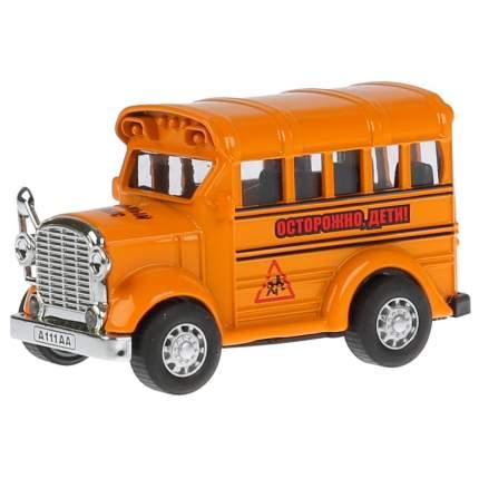 Модель металлическая инерционная Технопарк Школьный автобус, в ассортименте, 8 см