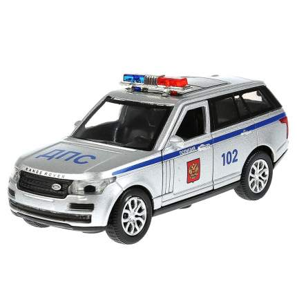 Технопарк Инерционная металлическая машина Range Rover Vogue – Полиция, 12 см, свет-звук