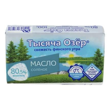 Сливочное масло соленое Тысяча озер 80,5% бзмж 100 г