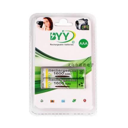 Аккумулятор BYY Ni-MH AAA 1.2В 1600 мАч - 2 шт.