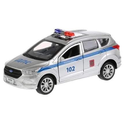 Технопарк Машина металлическая Ford Kuga Полиция 12 см., открываются двери, инерционная