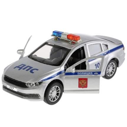 Технопарк Инерционная металлическая машина – Полиция, 12 см, свет, звук