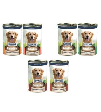 Консервы для собак Happy Dog Natur Line Ассорти 6 шт по 0,41 кг