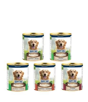 Консервы для собак Happy Dog Natur Line, Ассорти  5 шт по 0,97 кг