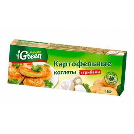 Котлеты картофельные Морозко Green с грибами 450 г