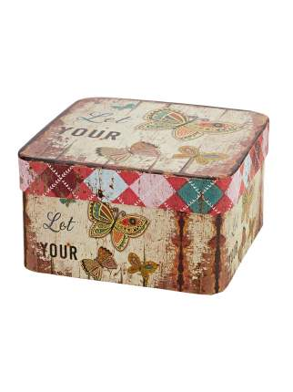 Подарочная коробка Бабочка 17х17х9см большая картон