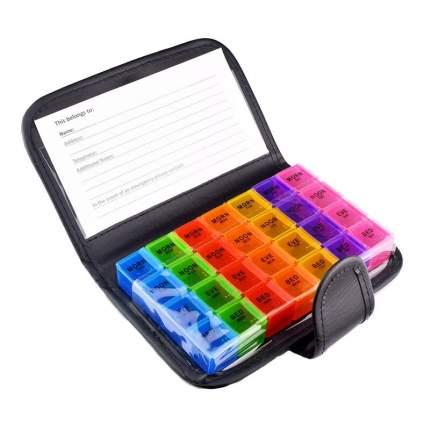 Таблетница-органайзер для хранения лекарств Здоровье 19,2 x 12,2 x 3,5 см