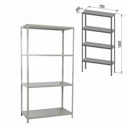 Стеллаж металлический Brabix MS-150/40/70-4 (S241BR044402)