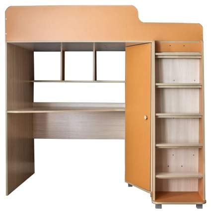 Кровать чердак Капризун с рабочей зоной оранжевый