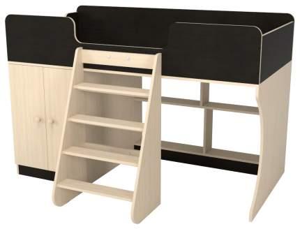 Детская кровать-чердак Капризун Р441-дуб миланский со шкафом