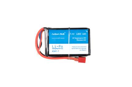 Аккумулятор Li-Po 7,4V 1300 mAh (ASR1-T)
