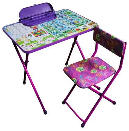Комплект детской мебели Galaxy Умняшки первоклашки фиолетовый