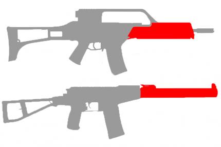 Готовая проводка СтрайкАрт G36 , АС ВАЛ , ВСС (в цевье) (SA-WG-04)