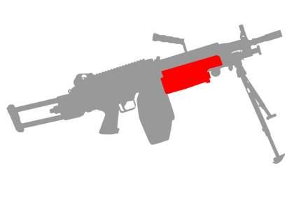 Комплект проводки ASR для M249 с выводом в цевье (ASR_WS_M249_1)