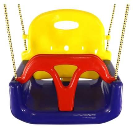Качели детские Kampfer 3 в 1 пластиковые синий, желтый, красный