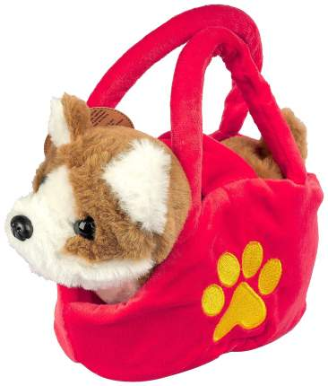 Собака в сумочке Bondibon 17 см коричнево-белая