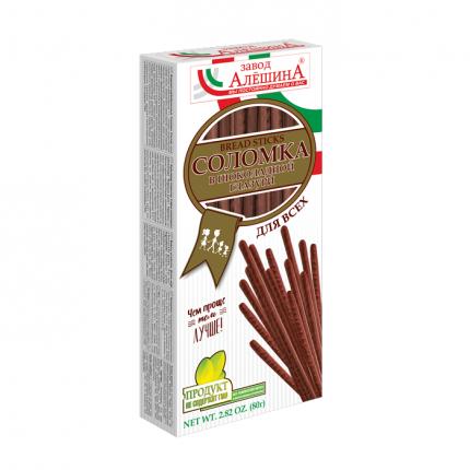 Соломка Завод Алешина Для всех в шоколадной глазури 80 г