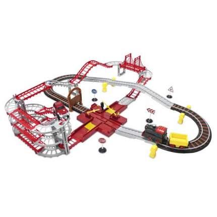Железная дорога Wincars Магистраль и автотрек с 1 паровозом, 1 машинкой и переездом