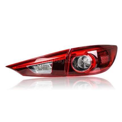 Задние фонари Мазда 3 2014-2019 модель №1, черно-красные, арт:MF-TL-000209