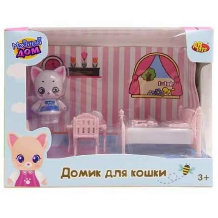 Уютный дом ABtoys Домик для кошки малый Спальня