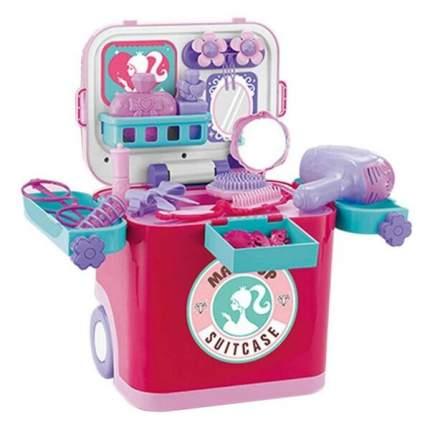 Набор игровой в чемодане Junfa toys Стилист, световые и звуковые эффекты
