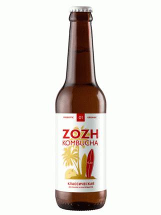 Комбуча ZOZH kombucha без сахара - Классический вкус, 0,33л.