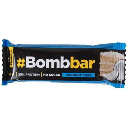 Батончик BombBar Кокосовый торт в шоколаде протеиновый 40 г