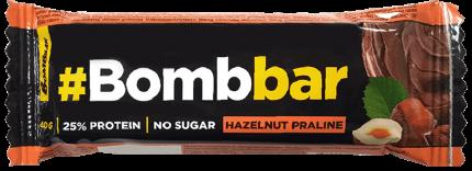 Батончик BombBar Фундучное пралине в шоколаде протеиновый 40 г